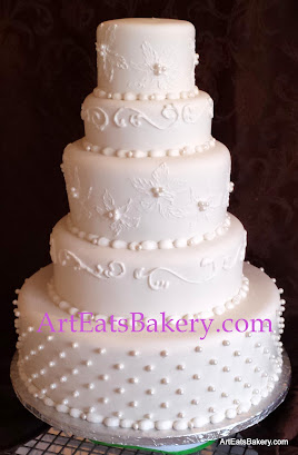 Wedding Cakes Dallas 12 Trend Ribbons u Pearls Wedding