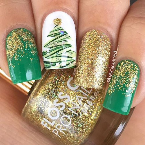 Christmas Tree Nail Art Ideas