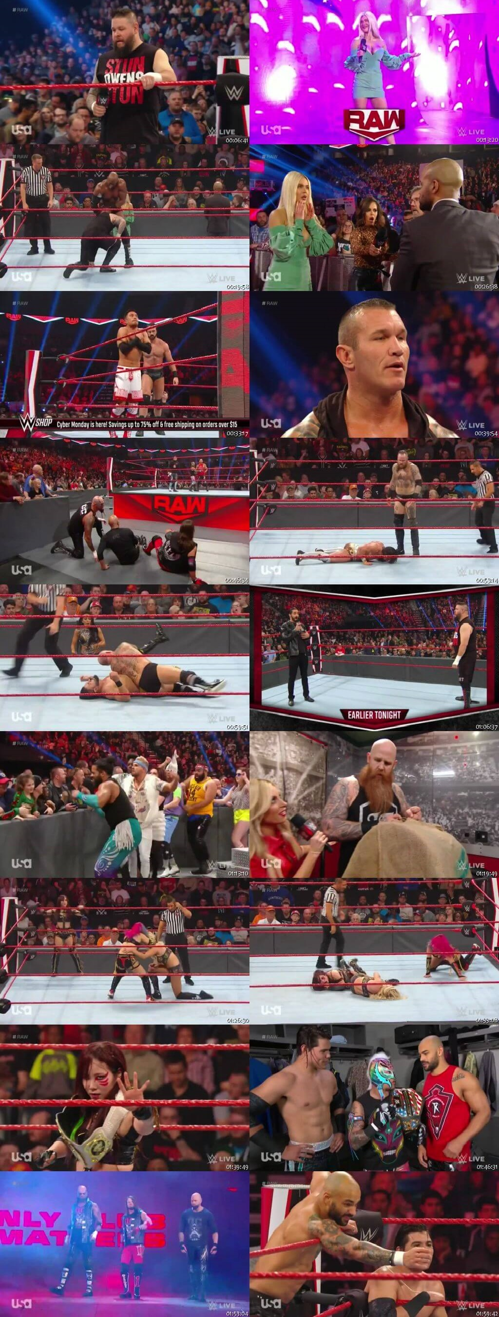 Screen Shot Of Wrestling TV Show WWE Monday Night Raw 2nd December Watch Online Free Download