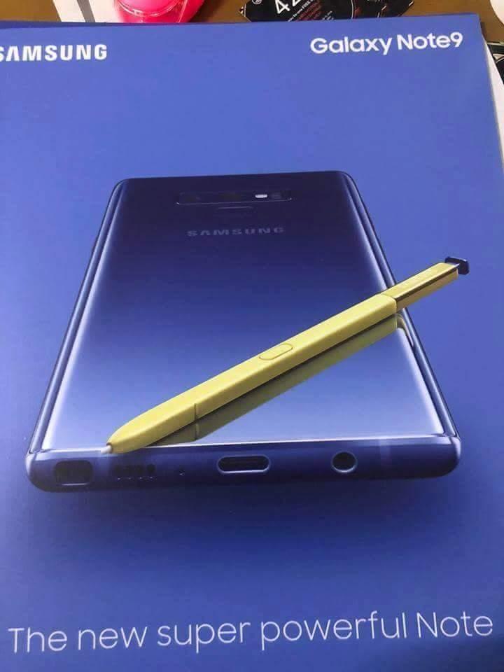 تصميم Galaxy Note 9 يظهر من خلال أول صورة رسمية بالإضافة الي ملصق إعلاني