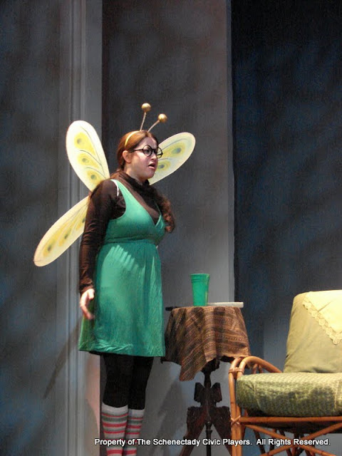 """Jennifer Van Iderstyne in """"Time Flies"""" as part of THE IVES HAVE IT - January/February 2012.  Property of The Schenectady Civic Players Theater Archive."""