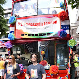 OIC - ENTSIMAGES.COM - USA Embassy Float at the Pride in London Parade  27th June 2015 Photo Mobis Photos/OIC 0203 174 1069