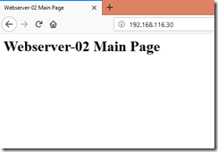 Webserver-02 Main Page Through Load Balancer