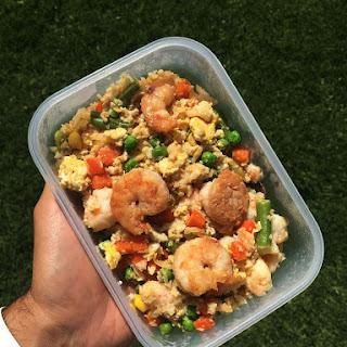 Shrimp, Veggies, & Cauliflower Rice