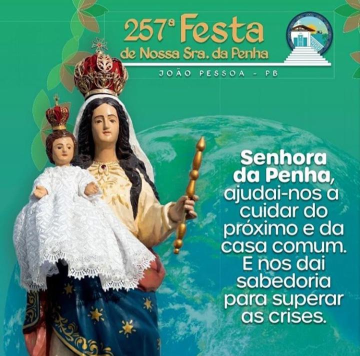Divulgado a programação e o tema da 257° Festa de Nossa Senhora da Penha 2020