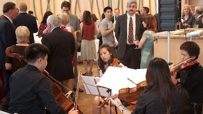 Cadence String Quartet: Alex Chang, Jeniffer Kim, Jessicca Lee (back), Jaunj Huncho.