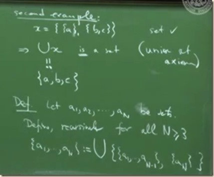 physics set theory axiom union 2