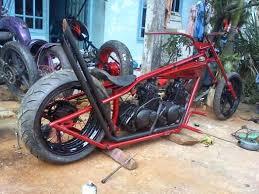 Motor doubel mesin merah