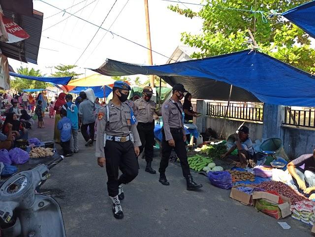 Antisipasi Tindak Kejahatan, Polsek Kahayan Kuala PAM Pasar Mingguan