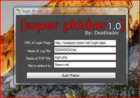 Software Membuat Halaman Phishing | Super Phisher