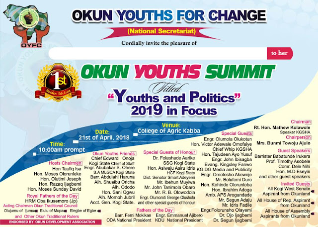 Okun Youths Summit: VOMY lauds OYC for initiative, says we can't have enough orientation.