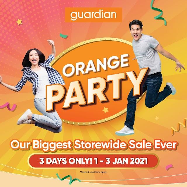 Orange Party Guardian Malaysia Menawarkan Promosi Istimewa Selama 3 Hari Bermula 1 Januari Sehingga 3 Januari 2021