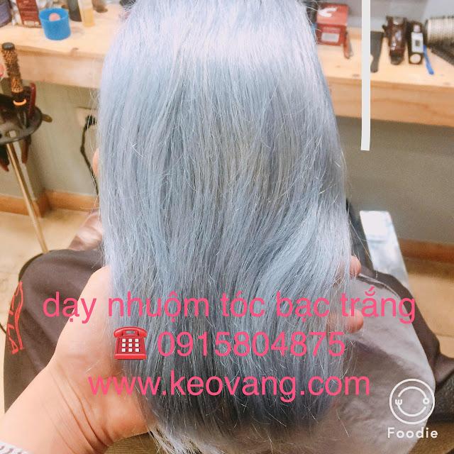 Dạy nhuộm tóc bạch kim + bạc trắng (test tóc thật 100%)