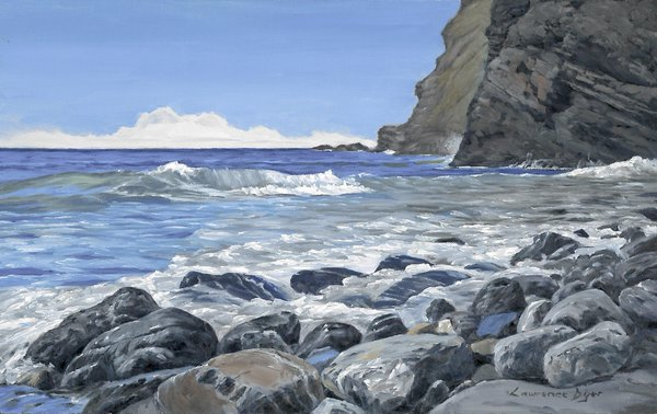 Sea Pounded Stones. Artist Lawrence Dyer