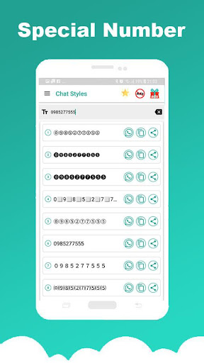 Chat Styles: Cool Font & Stylish Text for WhatsApp 7.1 Screenshots 3