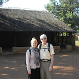 "Tish and I at the ""paramount"" Kgotla, here for a wedding"