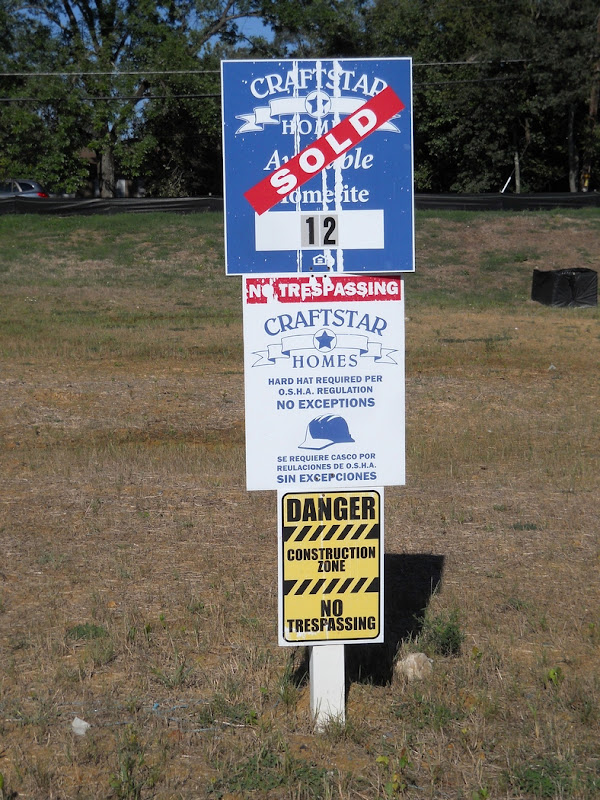 A home has been sold, and will be built here