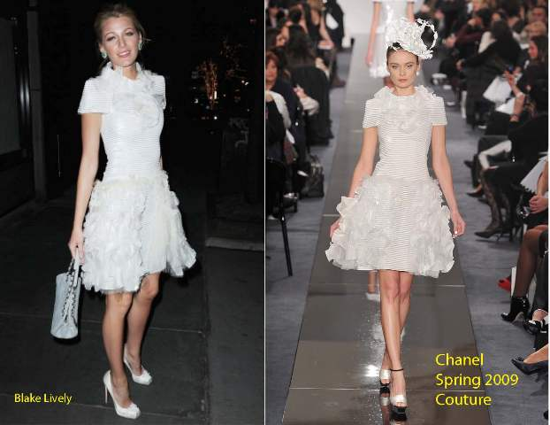 blake lively chanel dress. Blake Lively donned two Chanel