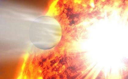 ilustração do exoplaneta excêntrico