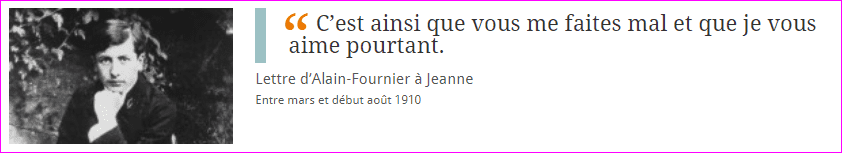 Lettre d'Alain-Fournier