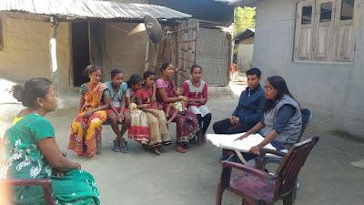 Support visit to Kachubil Nepaligaon, Udalguri