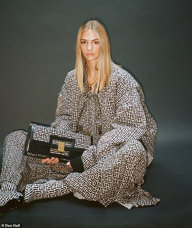 Romeo Beckham's girlfriend Mia Regan stars in Balmain Pre Fall 2021 Campaign