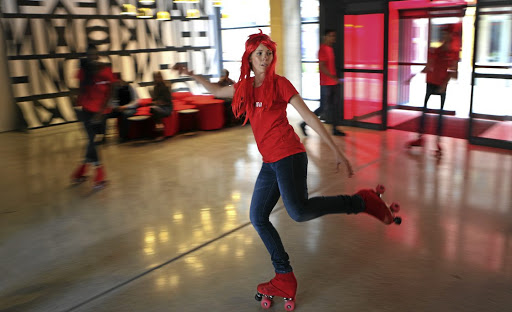 The rollerskating staff are a good example of the fun that's been built into the Radisson RED.