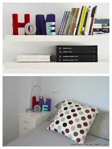 REFORMAS DE DISEÑO interiorismo barato madrid económico decoración decorar con letras