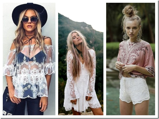 lace up boho attire
