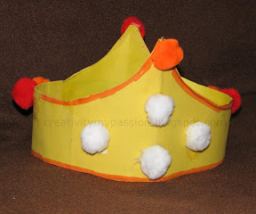 Ice cream King crown made from vegetable wrap
