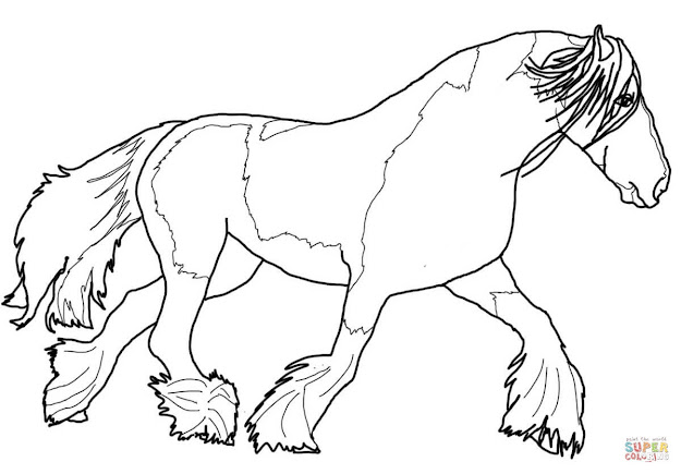 Horse Coloring Pages Printable Gypsy