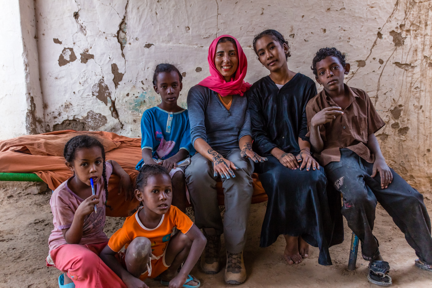 family in sudan