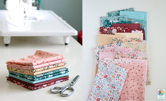 Goose Creek Gardens fabric by Poppie Cotton found on A Bright Corner - she shares a free download for the pattern she uses