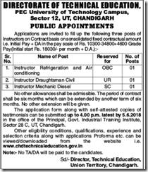 DTE Chandigarh Notification 2018 indgovtjobs