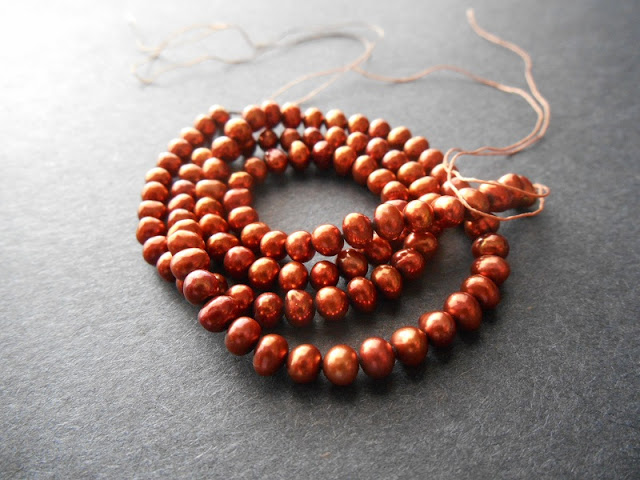 Coppery Freshwater Pearls