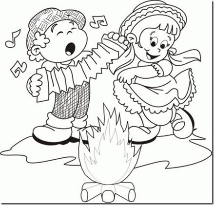 Dibujos gratis para colorear 10 de Noviembre  Día de la Tradición Argentina