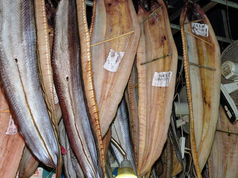 Shanghai,dans l'ex concession Française.Ruelles d'un mini quartier branché....poissons séchés .