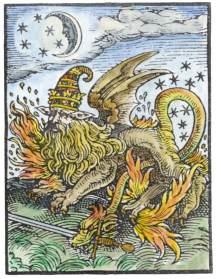 Woodcut From Paracelsus Auslegung Von 30 Magischen Figuren Strassburg 1616, Emblems Related To Alchemy