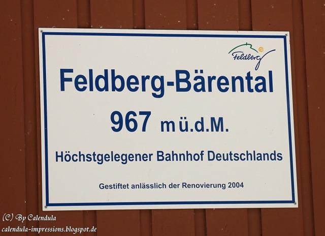 Höhenschild Feldberg-Bärental