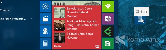 buat shortcut aplikasi windows 10