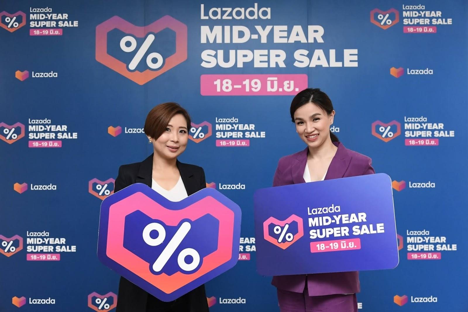 Lazada เผยความสำเร็จ Mid-Year Super Live Grand Showท่วมท้นด้วยยอดผู้ชมกว่า 4 แสนราย พร้อมผู้ขายและ KOL ร่วมสร้างสีสันกว่า 1,000 ราย