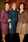 Luncheon chairwoman Michal Powell, council president Elizabeth Robinson and Jill Smith.