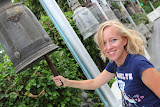 Isabell ringing the bells on top of the Golden Mount (© 2010 Bernd Neeser)