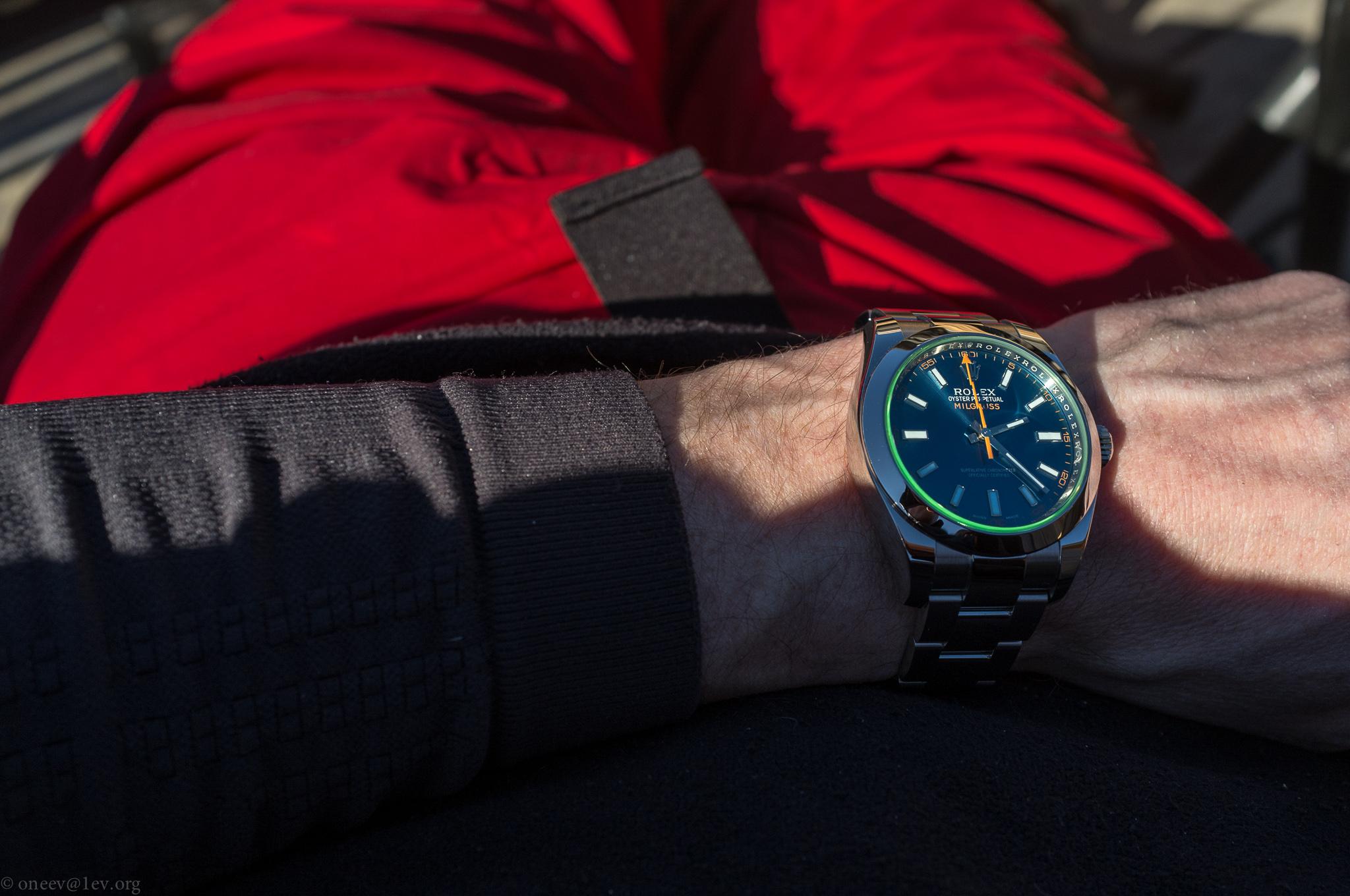 Revue illustrée de la Rolex Milgauss Z-Blue 20150226-DSCF6078