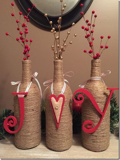 decorar botellas navidad todonavidad info (6)