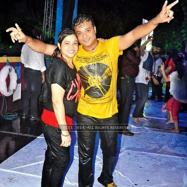 Nistha and Gaurav during a rain dance party in Kanpur.