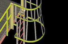 SDS2 Model of Caged Safety Ladder