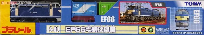 Đồ chơi tàu hỏa S-60 EF66 Electric Locomotive được làm từ chất liệu nhựa cao cấp, an toàn