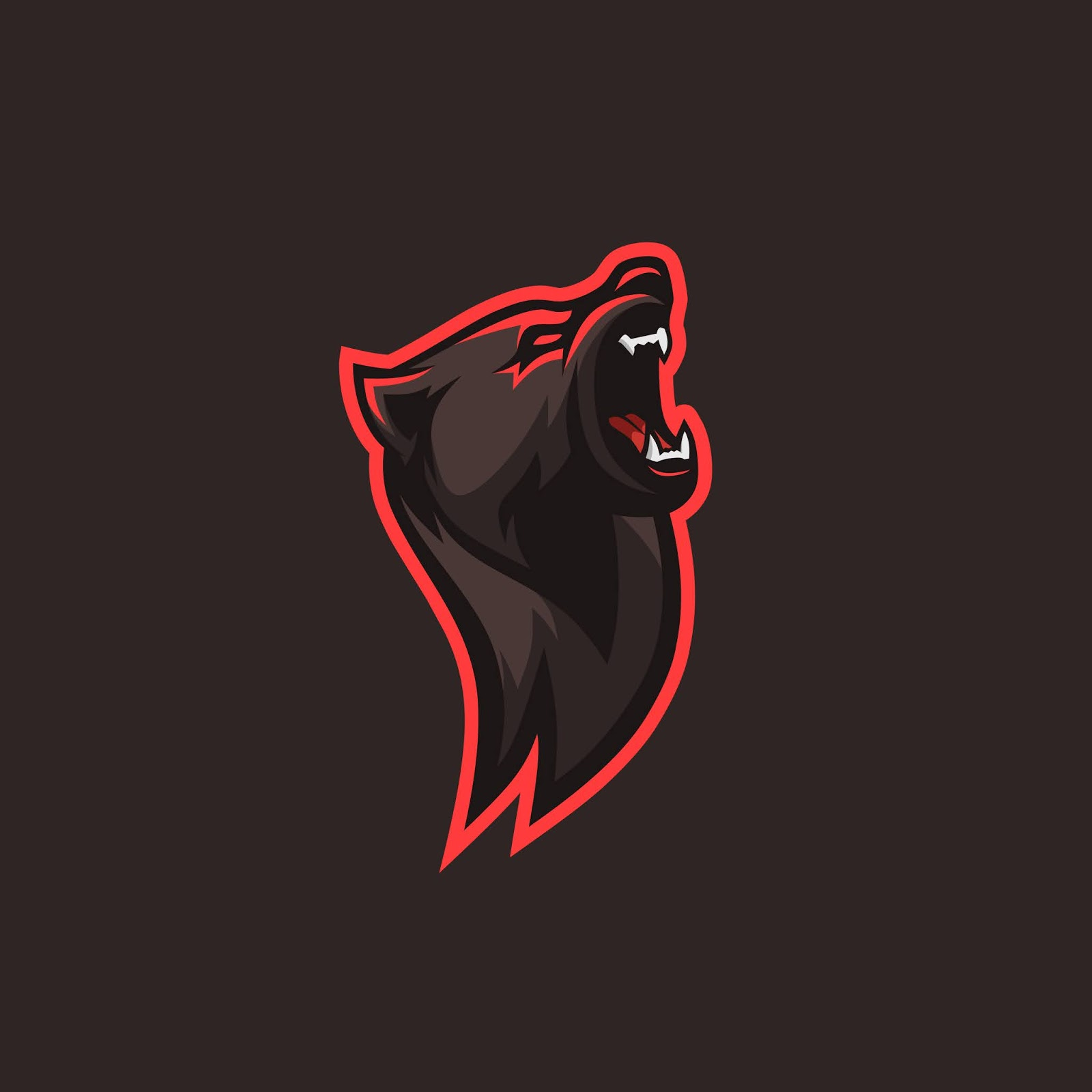 Bear Illlustration Logo Gaming Squad Free Download Vector CDR, AI, EPS and PNG Formats