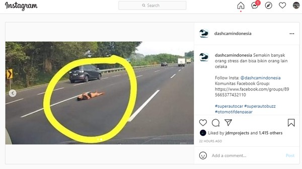Pelaku Aksi Tiduran di Tengah Jalan Tol Japek Berhasil Ditangkap!